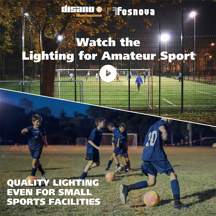 Watch the Lighting for amateur sport video